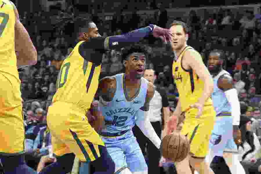 Jazz fall to Grizzlies 107-106 in Mike Conley's return to Memphis, while Donovan Mitchell rips refs' 'ridiculous' non-call