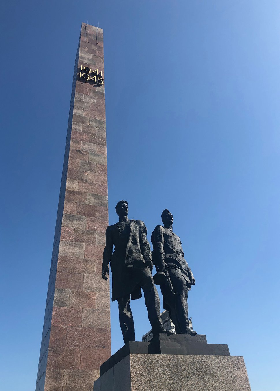 (Michael Stack | Special to The Salt Lake Tribune) Statue of Soviet citizens uniting to hold off the Nazis at the Monument to the Heroic Defenders of Leningrad in St. Petersburg.