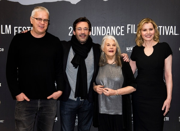 Rick Egan | The Salt Lake Tribune Tim Robbins, Jon Hamm, Lois Smith and Geena Davis, at the Ecceles Theatre for the premiere of