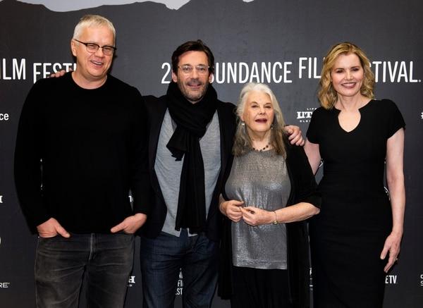 Rick Egan | The Salt Lake Tribune Tim Robbins, Jon Hamm, Lois Smith and Geena Davis, at the Ecceles Theatre for the premiere of