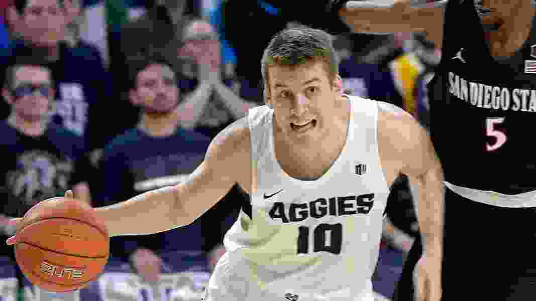 USU Aggies produce their first Mountain West win over San Diego State, 70-54