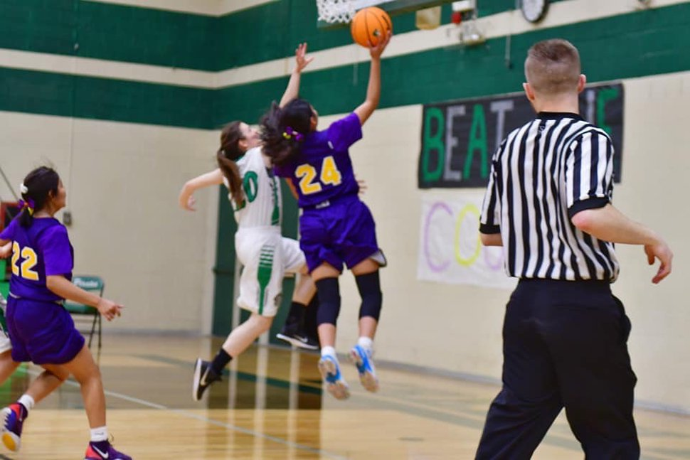 (Photo courtesy Jamika Nelson) Jamika Nelson, No. 24, played basketball at Monument Valley High School.