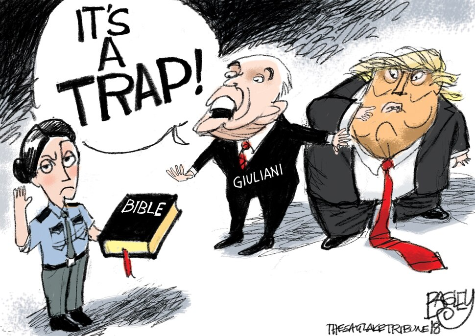 This Pat Bagley cartoon appears in The Salt Lake Tribune on Thursday, Aug. 23, 2018.