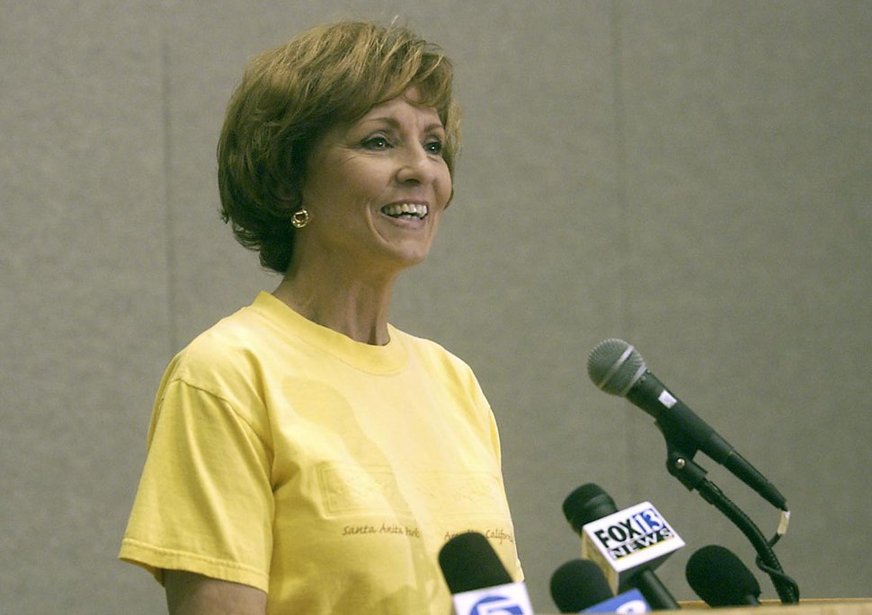 (Tribune file photo) Salt Lake County Mayor Nancy Workman at a press conference in 2004. Workman responded to criminal charges against her for misuse of public funds. An independent, bipartisan panel of County Attorneys claimed there was sufficient evidence to sustain two felony charges against Workman for misuse of public funds.