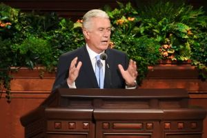 (Trent Nelson  |  Tribune file photo) Dieter F. Uchtdorf speaks at the General Women's Session of the 186th Semiannual General Conference, in Salt Lake City, Saturday Sept. 24, 2016.