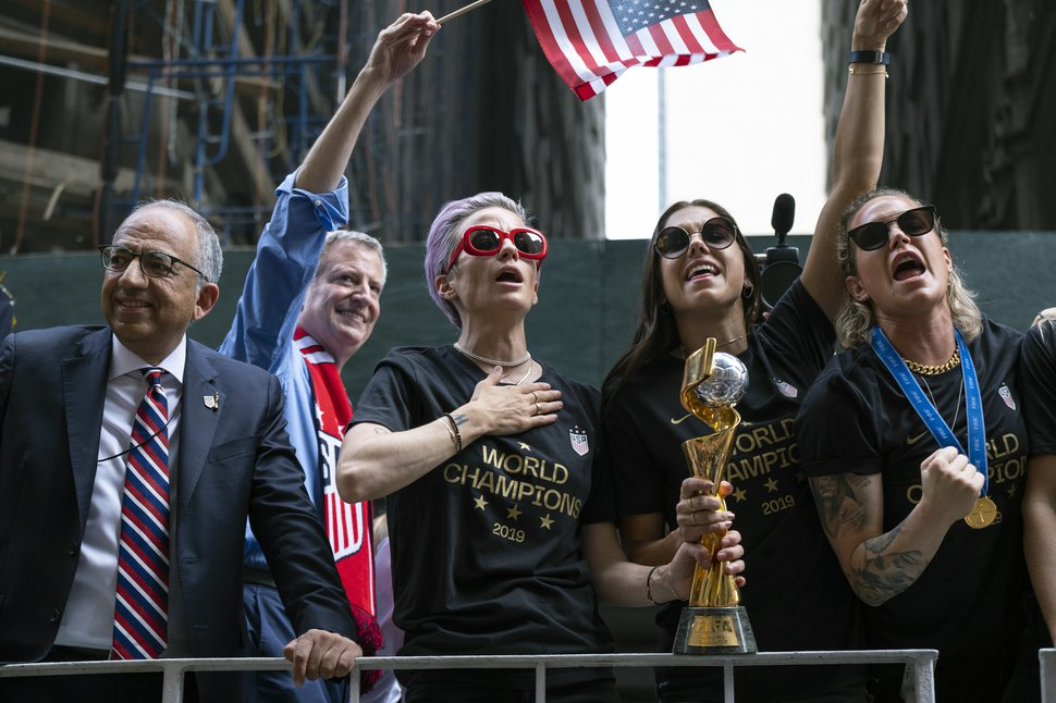 US Women's National Team's victory parade in NY