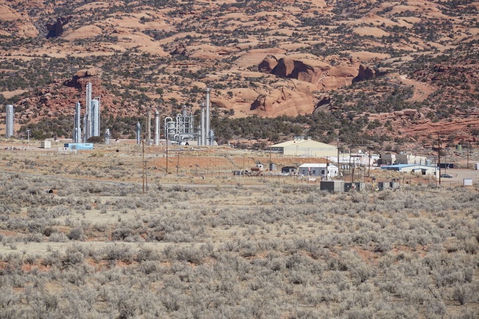 (Zak Podmore | The Salt Lake Tribune) The Lisbon Valley Gas Plant south of Moab processes natural gas from the Paradox Basin. Feb. 25, 2020.