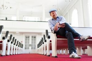 (Francisco Kjolseth   The Salt Lake Tribune) The Rev. Ian White Maher takes over as new interim pastor for First Unitarian Church in Salt Lake City, pictured on Friday, Sept. 3, 2021.