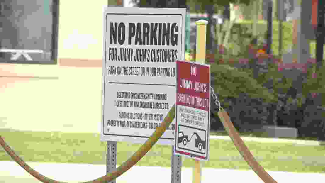 This parking lot along 400 South in Salt Lake City is being accused of unethical practices