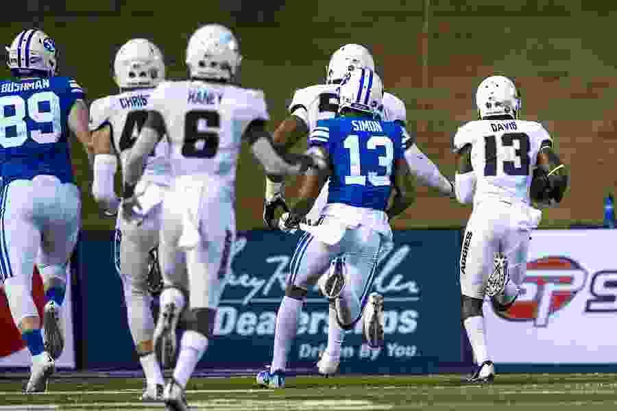 Jalen Davis leads aggressive Aggies defense vs. BYU