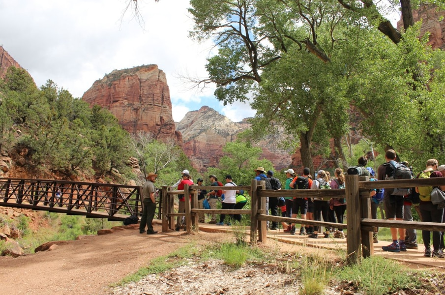 How long is the line to hike Angel's Landing in Zion? Really, really long.