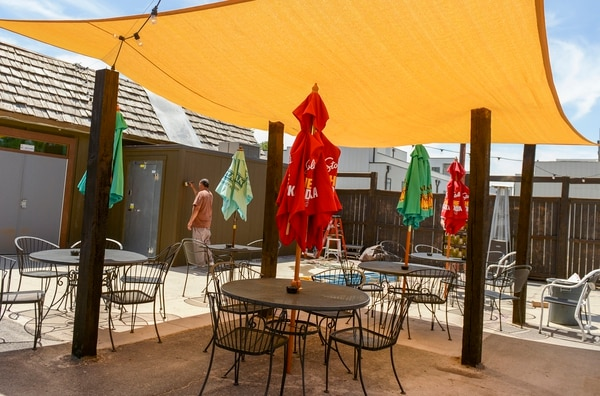 (Leah Hogsten | The Salt Lake Tribune) The colorful patio at HandleBar in Salt Lake City's Marmalade District.