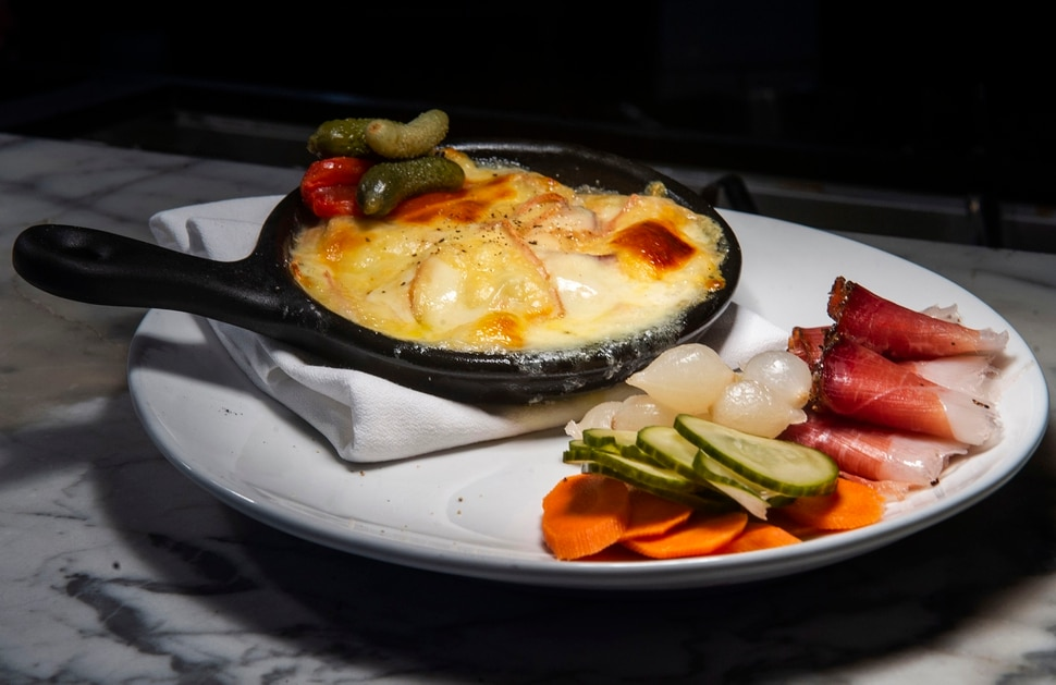 (Rick Egan | The Salt Lake Tribune) Raclette aka The Winter Charcuterie at OneOEight, a new bistro on the corner of 1300 South and 1700 East in Salt Lake City, Thursday, March 7, 2019.