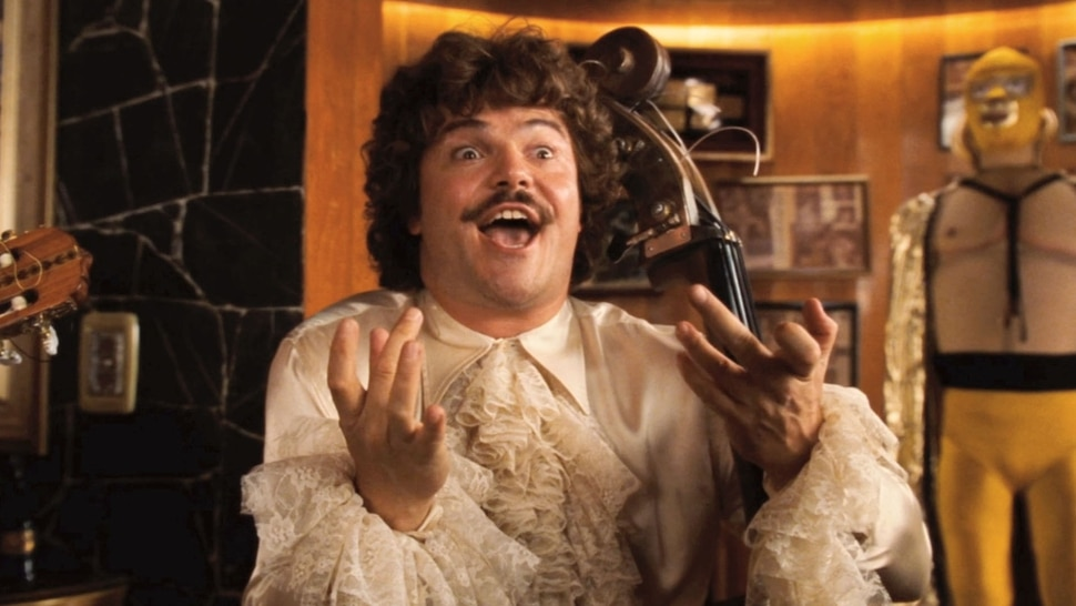 (courtesy Paramount Pictures) Jack Black plays a monk obsessed with lucha libre wrestling, in director Jared Hess' 2006 comedy Nacho Libre.