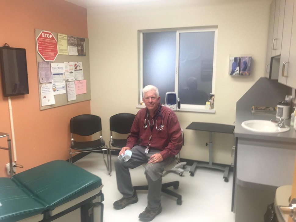 (Photo courtesy of Jeff Chappell) Dr. Jeff Chappell and his staff at a community health center in Wayne County are growing increasingly busy, facing new responsibilities, challenges and worries due to the coronavirus.