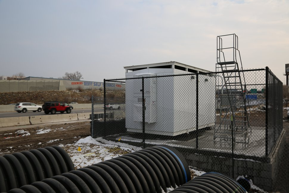 (Courtesy Utah Department of Environmental Quality) This new air quality monitoring station near I-15 in Murray will be online sometime next year.