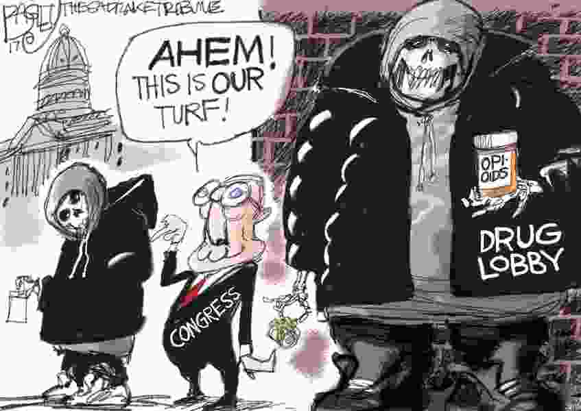Bagley Cartoon: Drug Dealing Lowlifes