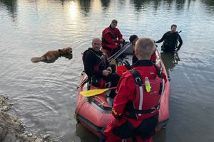 (Utah County Sheriff) Utah County Sheriff Search and Rescue searches for a missing man who went under the surface of Spring Lake on the evening of Friday, June 25, 2021.