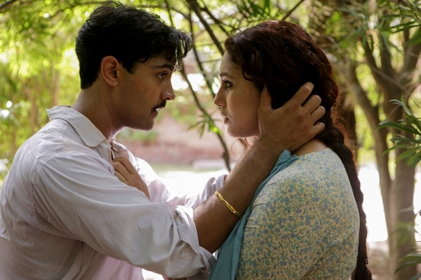 (Kerry Monteen | IFC Films) Jeet (Manish Dayal, left), a Hindu working for the British viceroy in India, falls in love with Aalia (Huma Qureshi), a Muslim on the household staff, in a scene from the drama