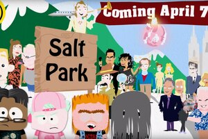 """A screen capture from """"Salt Park,"""" a YouTube series that parodies """"South Park"""" created by activist Fred Karger."""