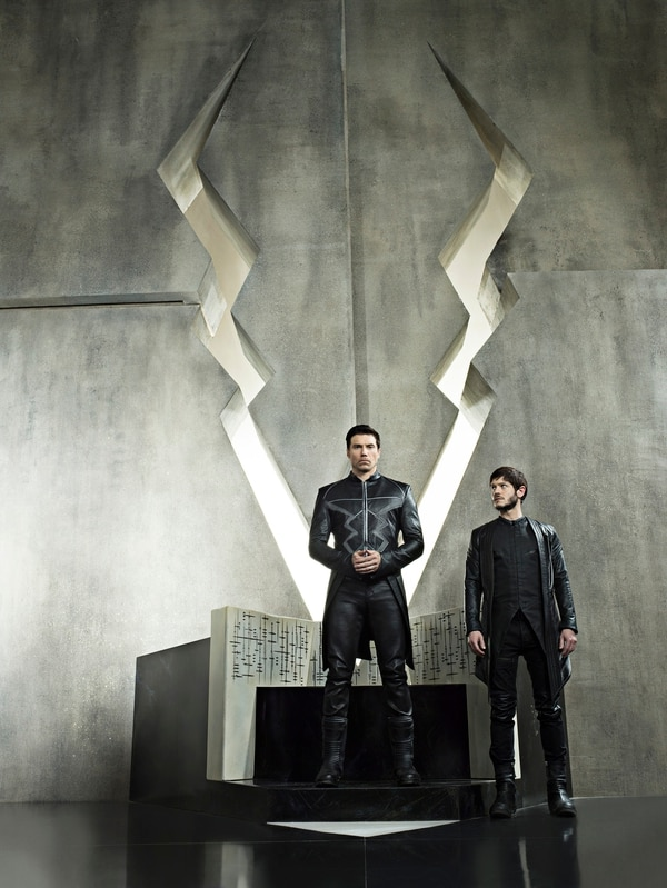 "(Credit: ABC/Michael Muller) ""Marvel's Inhumans"" stars Anson Mount as Black Bolt and Iwan Rheon as Maximus."