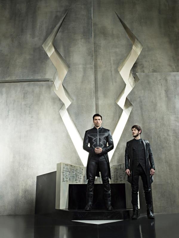 "(Credit: ABC/Michael Muller) ""Marvel's Inhumans"" stars Anson Mount as Black Bolt and Iwan Rheon as Maximus."