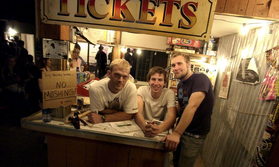 (Ryan Galbraith | Tribune file photo) Former Kilby Court owner Phil Sherburne and employees Will Sartain — who owns the venue now — and Mike Snider in 2004.