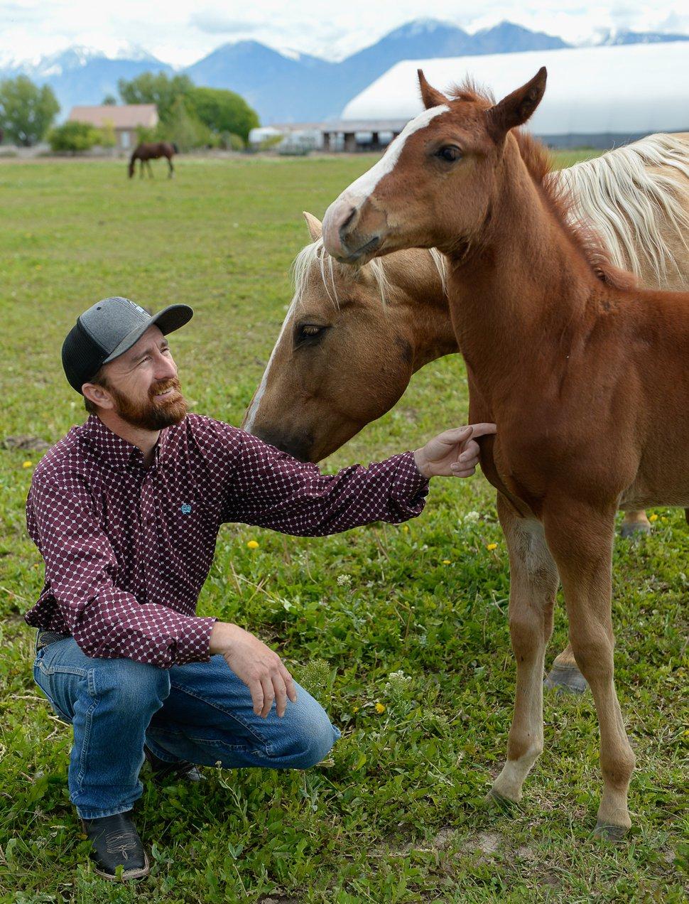 (Francisco Kjolseth | Tribune file photo) Utah County Commissioner Nathan Ivie on his 30-acre horse ranch in Benjamin in May 2019.