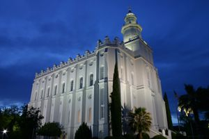 (Courtesy LDS Church) St. George Temple.