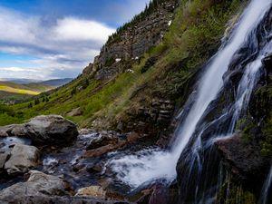 (Francisco Kjolseth | The Salt Lake Tribune) Lower Mount Timpanogos Falls ushers in spring growth on Wednesday, May 19, 2021.