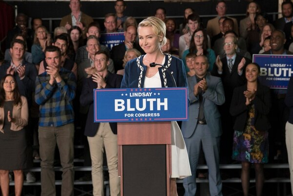 """(Photo: Saeed Adyani/Netflix) Lindsay (Portia de Rossi) is running for Congress in """"Arrested Development."""