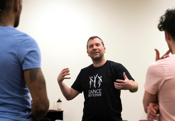 (Rick Egan   The Salt Lake Tribune) Daniel Charon, artistic director for Ririe-Woodbury, works with the dancers as they prepare for their show next week, and for their upcoming tour to South Korea and Mongolia.