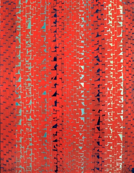 (Image courtesy Smithsonian American Art Museum) Alma Thomas' 1972 acrylic painting Red Sunset, Old Pond Concerto is one of three works from the Smithsonian American Art Museum's collection that will be on display for a year, starting Oct. 25, at the Utah Museum of Fine Arts, both museums announced Monday, July 8, 2019.