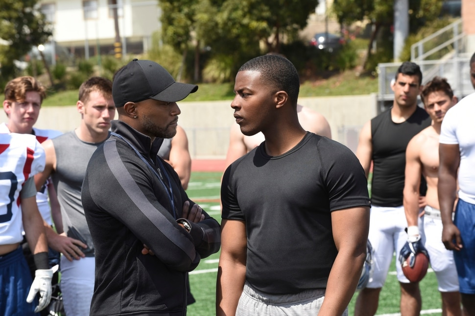 "(Photo courtesy Ray Mickshaw/The CW) Taye Diggs as Billy Baker and Daniel Ezra as Spencer James in ""All American."""