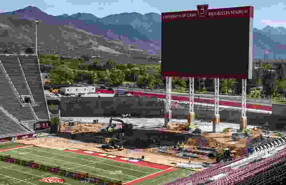 Utes getting ready to play, but will have to find a new locker room — crews demolished the old one