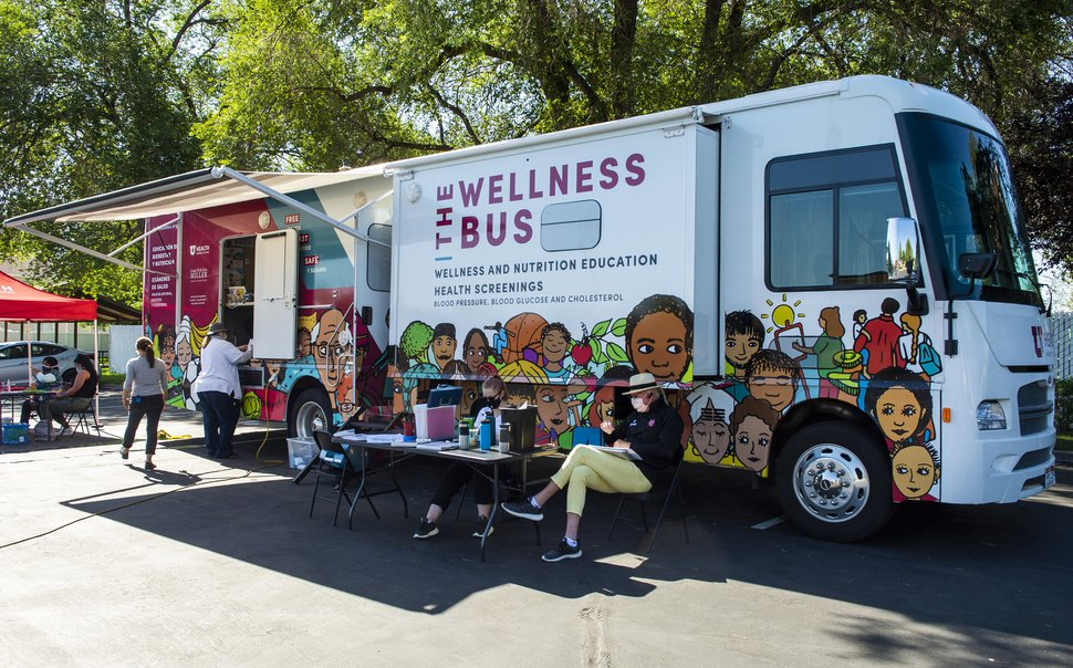 (Rick Egan | The Salt Lake Tribune) A survey is given to those being tested for Covid-19 at a the Wellness Bus mobile testing site in West Valley City, on Wednesday, July 29, 2020.