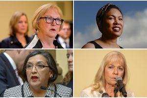 (The Salt Lake Tribune) Clockwise from top left: Christine Durham, Liz Owens, Christine Watkins and Rebecca Chavez-Houck.