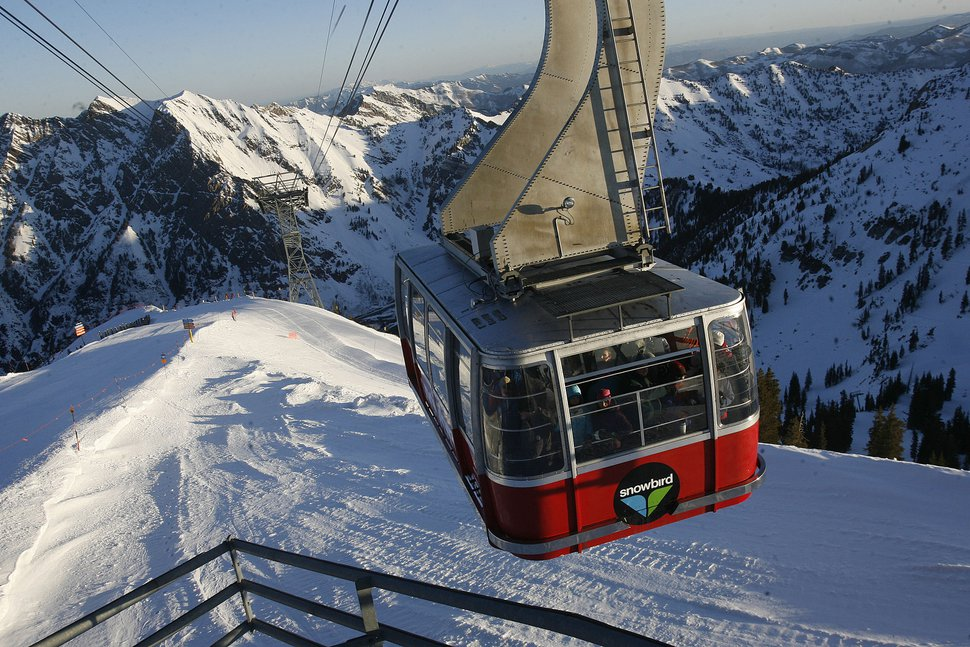 ( Scott Sommerdorf | The Salt Lake Tribune ) The Snowbird tram takes visitors to Hidden Peak and back to the resort center. Snowbird is part of a new ski pass offered by Alterra Mountain Co., which bought Deer Valley last year.