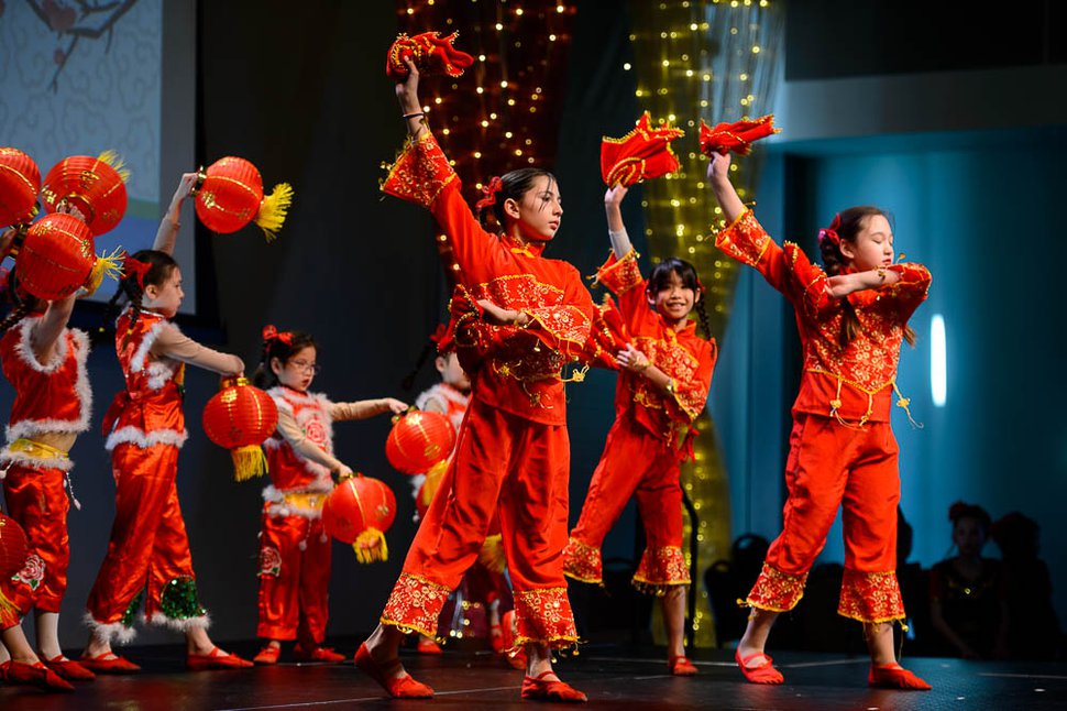 (Trent Nelson | Tribune file photo) Dancers from Utah Chinese Dance House perform at the Chinese New Year Celebration at the County Library's Viridian Event Center in West Jordan on Feb. 17, 2018.