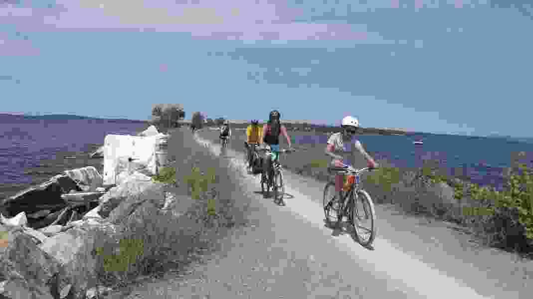 In Vermont, biking across Lake Champlain on an old rail causeway