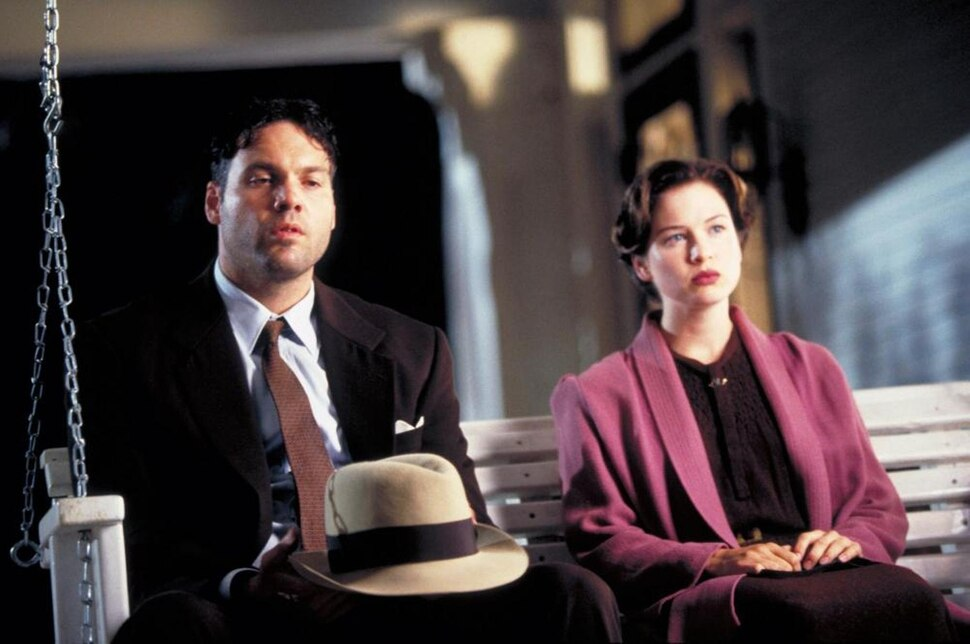 Vincent D'Onofrio (left) plays author Robert E. Howard, and Reneé Zellweger plays teacher Novalyne Price, in the 1996 drama