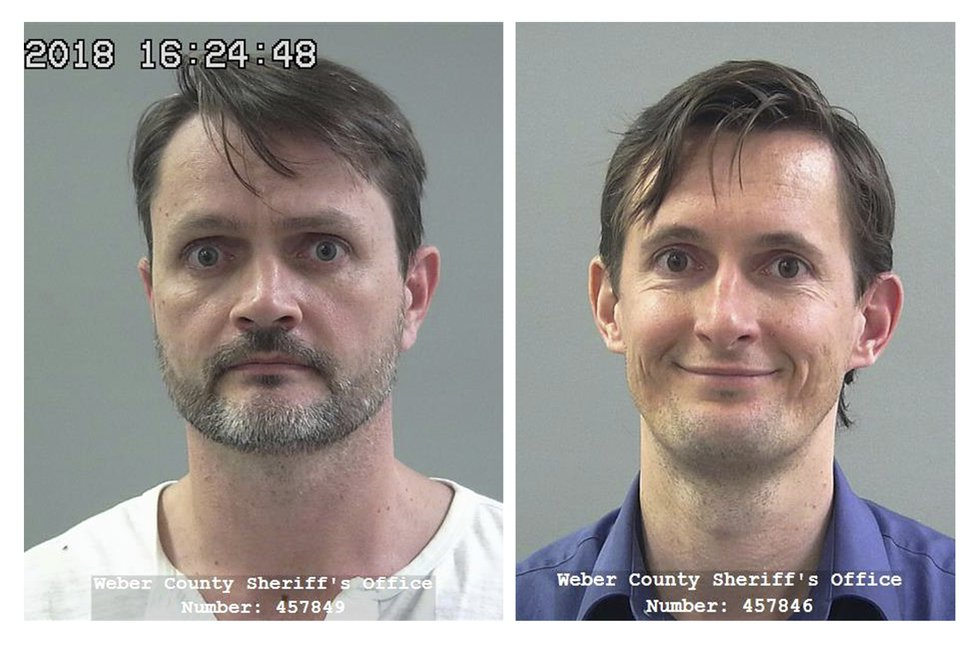 These undated file photos released by the Weber County Sheriff's Office show Jacob Kingston, left, and Isaiah Kingston. (Weber County Sheriff's Office via AP, File)