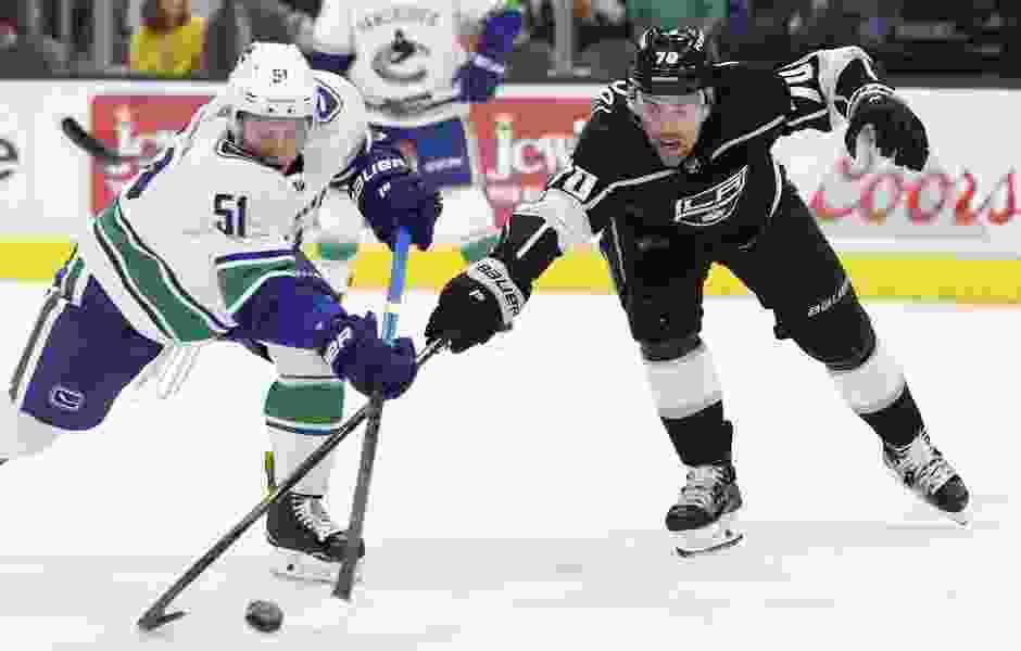 Los Angeles Kings' two Utahns savor preseason win over the Vancouver Canucks in Salt Lake City