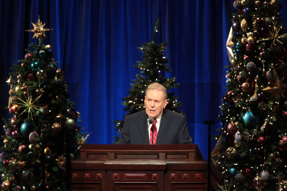 (Courtesy photo | The Church of Jesus Christ of Latter-day Saints) Terence M. Vinson of the Presidency of the Seventy speaks at the First Presidency's Christmas Devotional on Dec. 2, 2018.