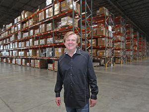 (George Frey | AP photo) Former CEO of OverStock.com Patrick M. Byrne poses for a picture in his warehouse just outside Salt Lake City, Utah on March 25, 2010. He has since resigned over his assertions that he was involved in the investigation of Russian interference in U.S. elections.