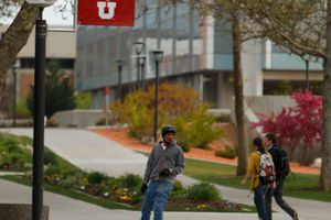 (Trent Nelson  |  Tribune file photo) The University of Utah campus in Salt Lake City.  The grandson of Marriner S. Eccles is calling on the U. to reject a $10 million gift from the conservative-leaning Charles Koch Foundation.