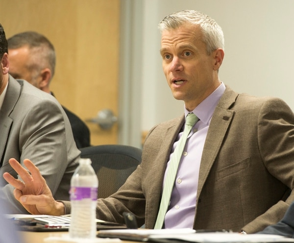 Rick Egan | The Salt Lake Tribune Matt Sibul, chief planning officer for Utah Transit Authority, talks about Proposition 1, as the UTA board meets in a committee meeting, Wednesday, Nov. 4, 2015.