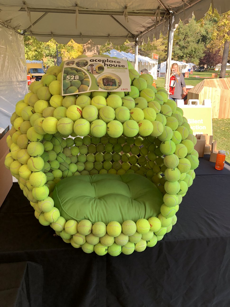 (Jeffrey Tuft | Courtesy of Architectural Nexus) A doghouse made from tennis balls was one of the entries of the inaugural Barkitecture Doghouse Competition. Entries in this year's competition will be on display Saturday, Oct. 12, 2019, during the Strut Your Mutt event in Salt Lake City's Liberty Park.
