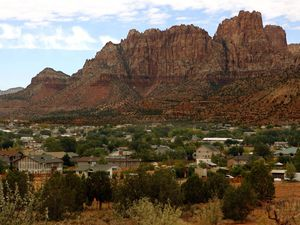 (Trent Nelson | The Salt Lake Tribune) The twin towns of Colorado City, Ariz., and Hildale, Utah.