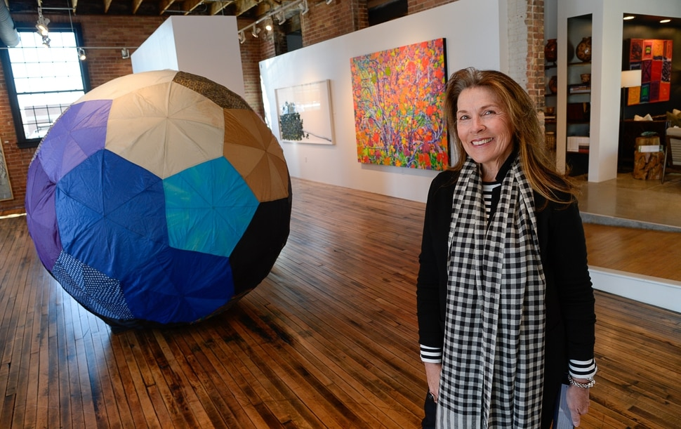 (Francisco Kjolseth | The Salt Lake Tribune) Art-gallery owner Diane Stewart and her gallery, Modern West Fine Art, moves into new space west of downtown Salt Lake City at 421 S, 700 West. Stewart is aiming to evolve the idea of an art gallery, with more experientially driven exhibitions.